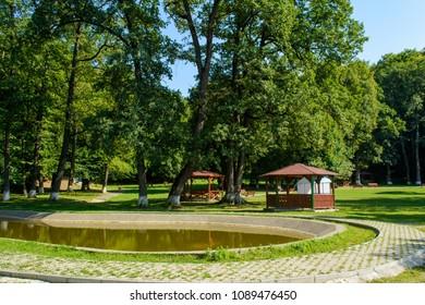 Promenada Sisi Park, Rasnov city, Brasov county, Transylvania, Romania,