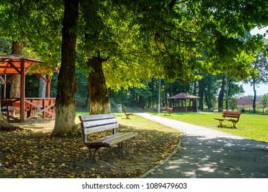 Promenada Sisi Park, Rasnov city, Brasov county, Transylvania, Romania