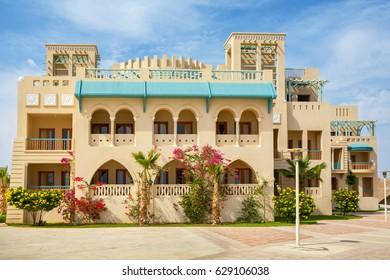 Promenade in Abu Tig Marina. El Gouna, Egypt