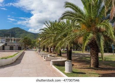 Promenade alley in Budva, Montenegro