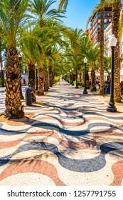The promenade Explanada, Alicante, Costa Blanca, Valencia, Costa Blanca, Spain, 17th september 2018