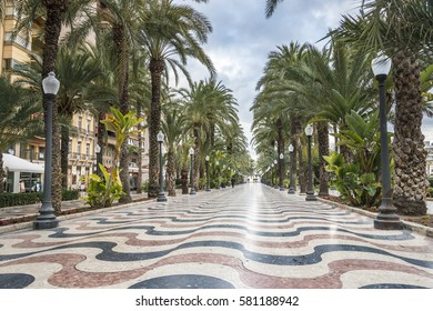 The promenade Explanada, Alicante, Costa Blanca, Valencia, Spain