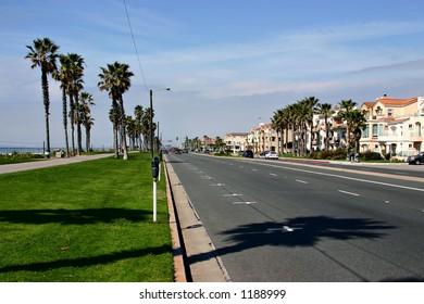 Promenade in Laguna Beach in California