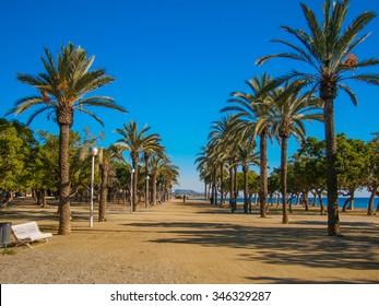 Promenade on the beach in Mataro