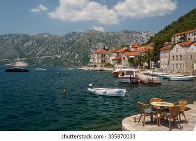 Promenade of Perast, Montenegro