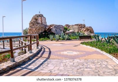 Promenade of playa Torrecilla in Nerja, Andalusia, Costa del Sol, Spain