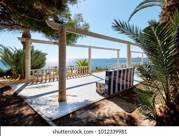 Promenade of Punta Prima. Punta Prima is a popular touristic place. Costa Blanca. Province of Alicante. Southern Spain