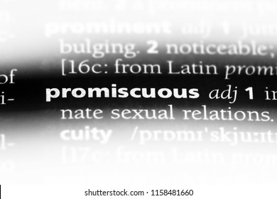promiscuous word in a dictionary. promiscuous concept.