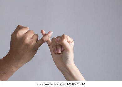 Promise hand sign, clenched a fist with little finger extended
