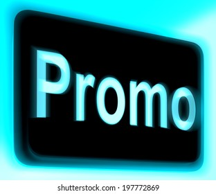 Promo Sign Showing Discount Reduction Or Save