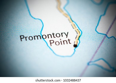 promontory point utah usa on a map
