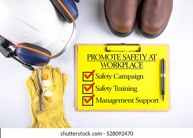 Promote Safety At Workplace, Safety & Health Concept