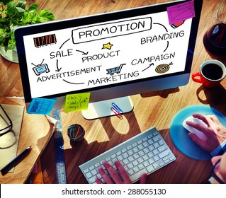 Promotion Advertisement Sale Branding Marketing Concept