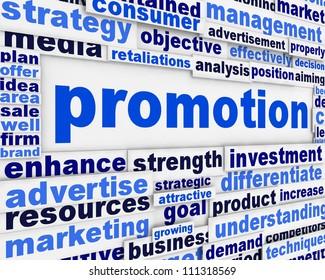 Promotion poster design. Creative marketing message background