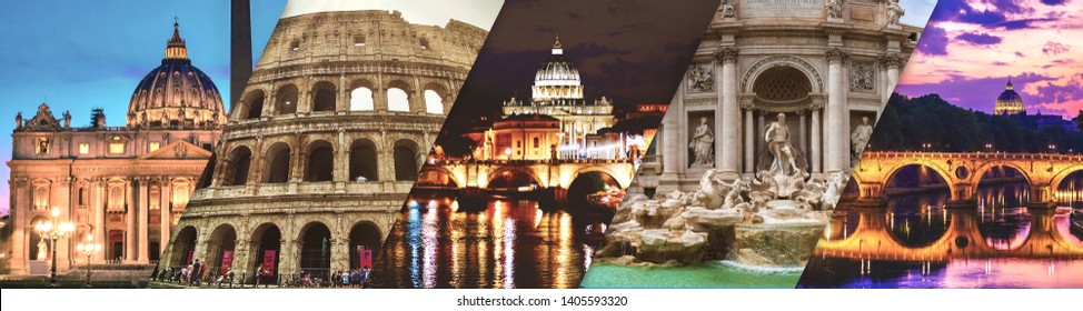 Promotional banner of Rome - Five pictures collage