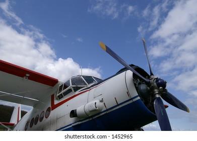 Propeller of worlds largest biplane