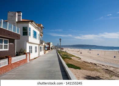 Properties on the waterfront in Manhattan Beach, Los Angeles, California, USA
