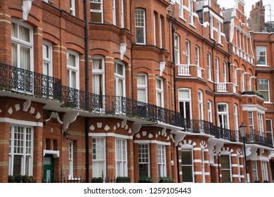 Property background- upmarket red brick townhouses