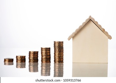 Property Investment Concept Growing  stacked coins