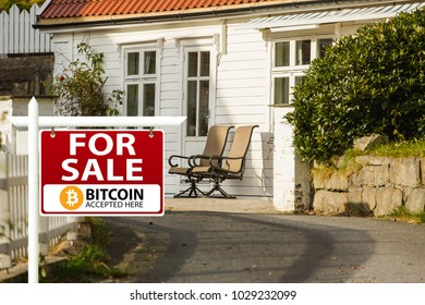 Property for sale. Bitcoins are accepted as payment