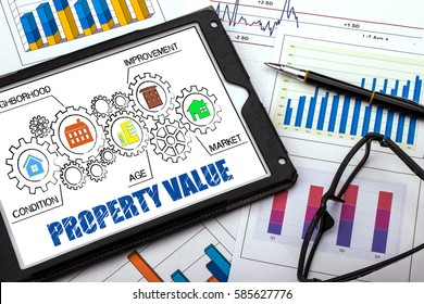 property value concept on tablet pc