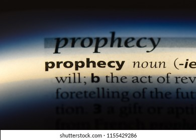 prophecy word in a dictionary. prophecy concept.