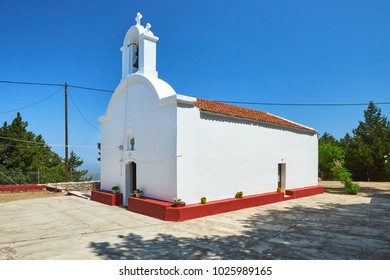 Prophet Elias church at the Profitis Ilias mount in Rhodes