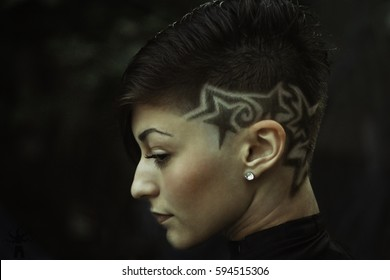 Short Haircuts With Side Shaved Haircuts Models Ideas Images Stock