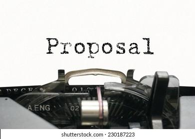 Proposal on typewriter
