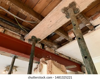 Propping Joists During Wall Removal Interior Building Works