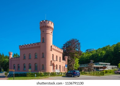 PRORA, GERMANY - JUNE 24, 2016:  Forester's house Prora on the island of Rügen at the Baltic Sea