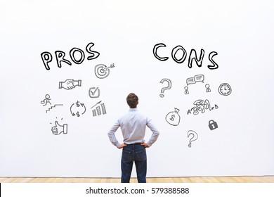 pros and cons, advantage disadvantage concept