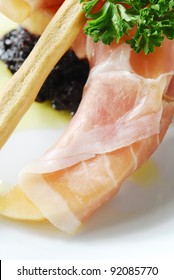 Prosciutto with melons