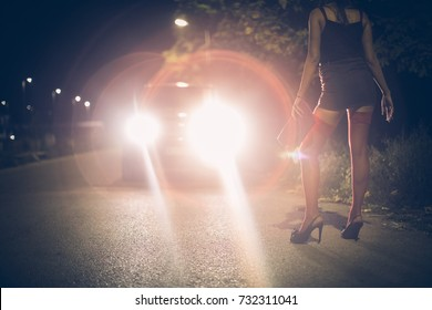 Prostitute on the street