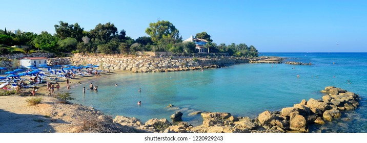 Protaras,Cyprus,August 23: Coastline view in Protaras,Cyprus August 2018