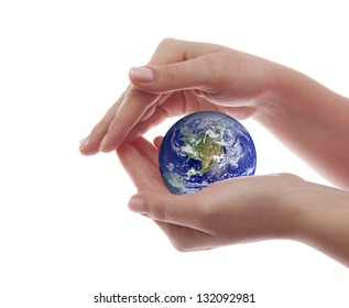 Protect the Earth. Elements of this image furnished by NASA