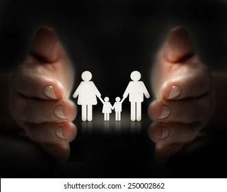 protect family by hands