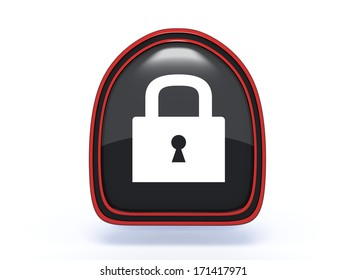 protect pick icon on white background