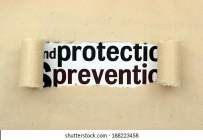 Protect prevent concept