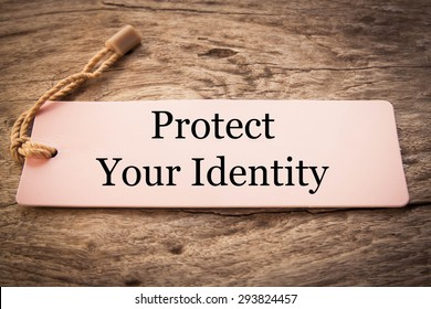 Protect your indentity concept