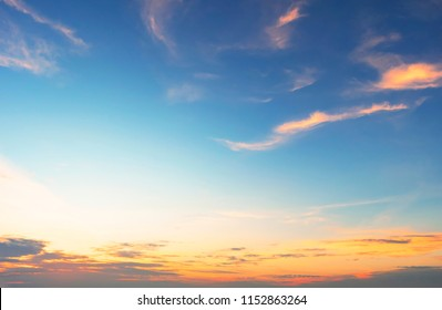 protecting nature concept  :Dramatic sunset and sunrise sky