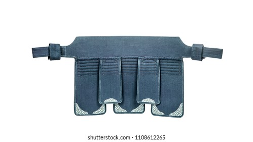 protection armor for the hips 'tare' for Japanese fencing Kendo  training close-up back view