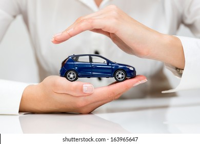 Protection of car. Business concept.