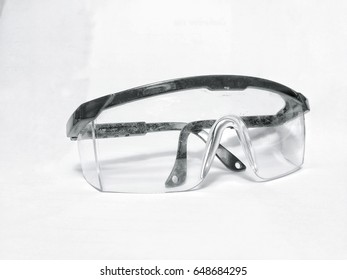 protection glasses for protect eyes from dangerous things susses dusk , ray or bacteria . - Shutterstock ID 648684295