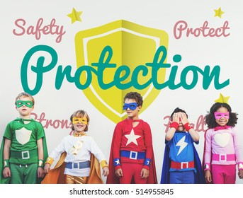 Protection Kids Childhood Aspiration Concept