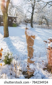protection of shrubs against wildlife during the winter and frost