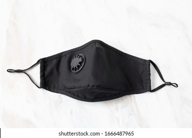 Protective black mask with vent