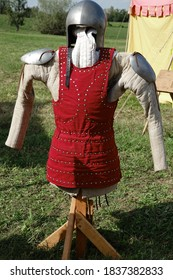 Protective clothing worn by a medieval warrior exposed to the open air