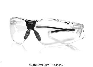 protective glasses isolated on white