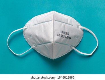 Protective mask, level FFP2 - MASKN95 KN95, respiratory protection agent. Moscow, Russia -  06 November, 2020